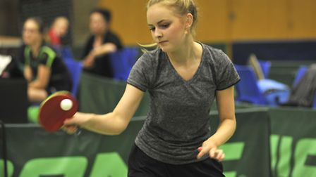 Charlotte Boston was a winner at the Hunts 2 Star Table Tennis Tournament.