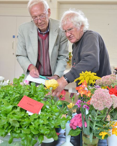 Buckden Autumn Annual Show, Judges (l-r) Frederick Daniels, and Dave Bunage,