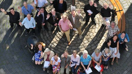 Representatives from local attractions attend the launch of St Albans Heritage Open Days