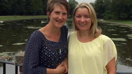 Chiltern MS Centre head of fundraising Hannah Asquith with Fiona Cressy, who will 'Walk the MS Mile'