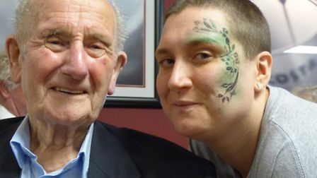 Laura Horsley braved the shave in support of grandad Ben