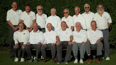 The Ramsey bowls team have won the Hunts & District League Division Three title. They are, back row,