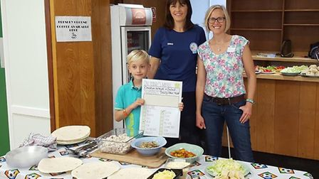 Manager Cate Hall, with Mandy Jinkerson the Community rep from Tesco who came along to make some ch