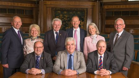 Herts County Council cabinet: Front from left: Chris Hayward (Deputy Leader and Cabinet Member for R