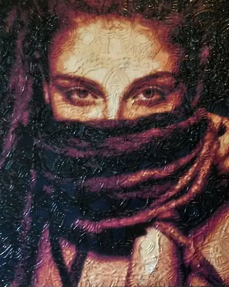 'Mandala girl' by prominent St Albans artist John Feeney is in the 2015 Stencil Art Prize