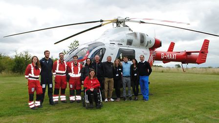 With the Herts Air Ambulance team at Barkway Golf Day