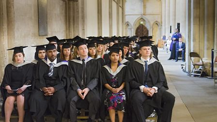 University of Herts graduation ceremony at St Albans Cathedral. Photo by Terry Richards Photography
