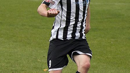 Stuart Eason opened the scoring for St Ives Town. Picture: LOUISE THOMPSON