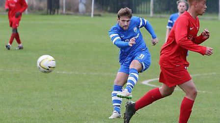 Charlie Smith opens the scoring for Colney