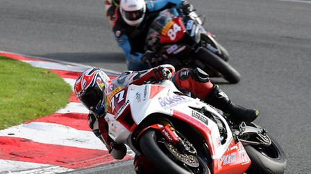 Jon Railton in the final round of the Pirelli National Superstock 1000 Championship at Brands Hatch.