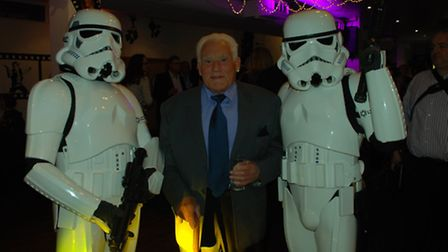 David Eades, 84, joined Star Wars characters at the book launch