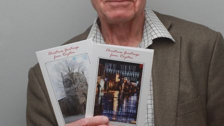 Clive will be selling his Christmas greetings cards.