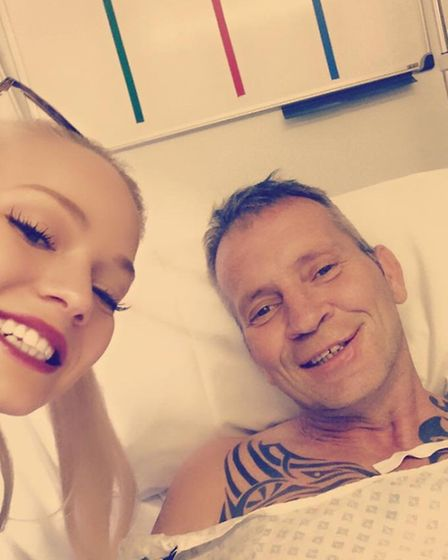 Amy Squires has been visiting her father in hospital every day since his tragic motorbike accident.