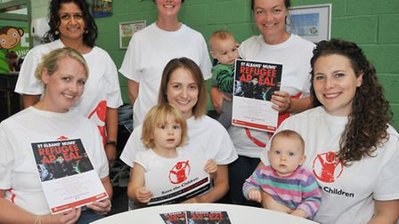 St Albans Mums group raising money for Save the Children Syria Appeal and MOAS Front L-R Kathy Ede,