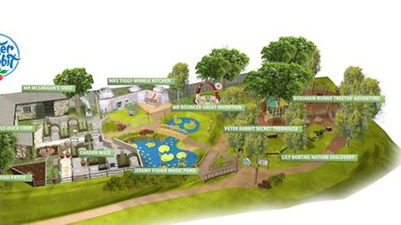 Willows Farm in London Colney has unveiled its Peter Rabbit adventure playground plans