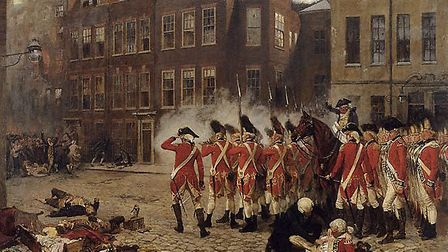 The Gordon Riots by Russell Drysdale.