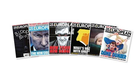 Front covers of The New European.