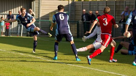 Tom Meechan scored twice for St Neots Town. Picture: CLAIRE HOWES