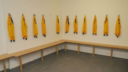 The new home chaning rooms at Harpenden Town FC