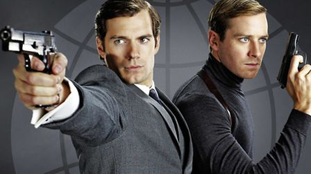 Henry Cavill and Arnie Hammer in The Man From U.N.C,L.E