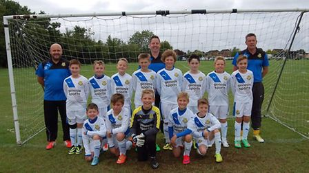Sawtry Under 11 Yellow Sox.