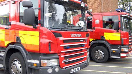 Firefighters tackled a blaze in Godmanchester.