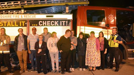 Residents attended a 'Think Safe' course at St Albans Fire Station, and were presented with certific