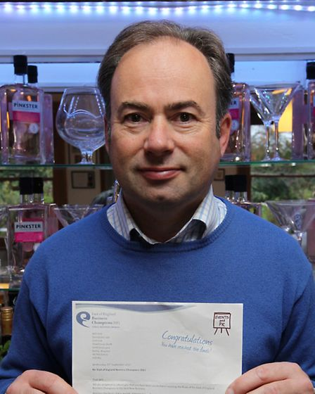 Stephen Marsh with his Pinkster Gin finalist letter.