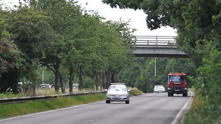 The bridge over the A414 looking towards Park Street