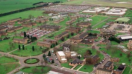 An aerial view of RAF Wyton. Picture: GEOFF SODEN