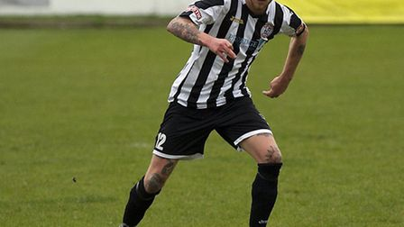 Jared Cunniff scored for St Ives Town. Picture: LOUISE THOMPSON