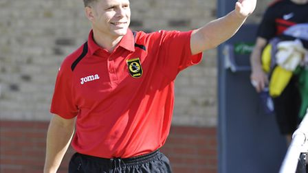 Huntingdon manager Scott Witherall guided the club to a first win since January last night.
