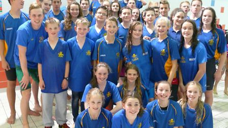 The group after round one of the Arena National Swimming League