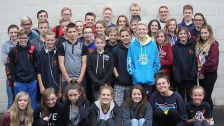 The St Ives Swimming Club squad who triumphed in the opening round of the Arena National League at W