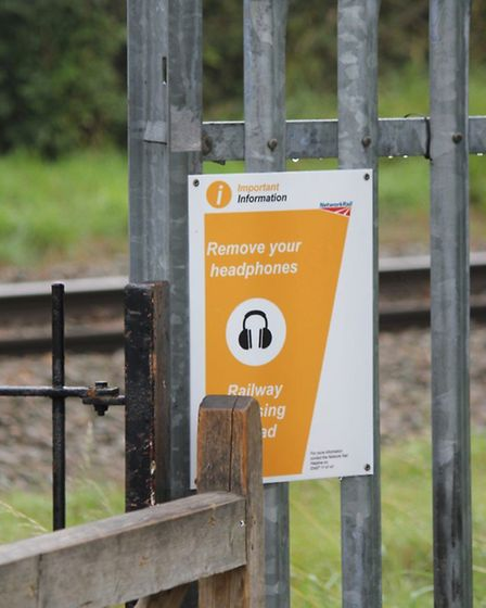 Disabled people cannot cross the accessway over the Abbey Flyer railway in Cottonmill estate. Photo