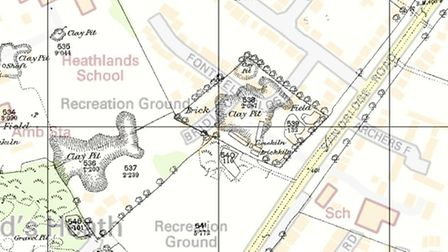 Image provided by Landmark showing the location of Fontmell Close, overlaying a map from 1878. Crown
