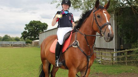 She's a winner: Oaklands College rider Georgina Maton won several gold medals at the recent Special