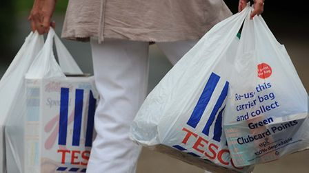 From today shoppers are being asked to pay 5p for each carrier bag they use at larger stores.