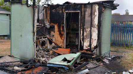 The laundry out house was used by a number of people living in mobile homes