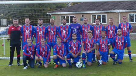 Alconbury, pictured in new kit courtesy of DV Maintenance are, back row left to right, Darrell Clark