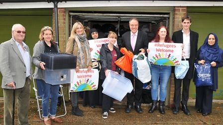 Richard Howitt MEP joins volunteers and supporters from local businesses who are helping out St Alba