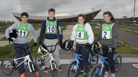 Students from Samuel Ryder Academy in St Albans enjoyed cycling for free at Lee Valley VeloPark duri