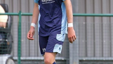 Ryan Hawkins put St Neots ahead. Picture: CLAIRE HOWES