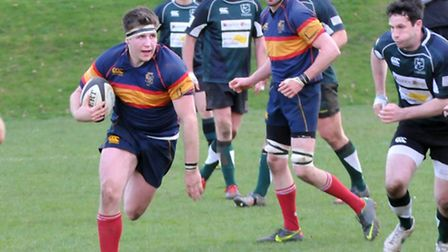 Tabard's Aaron Priscott was one of the try scorers