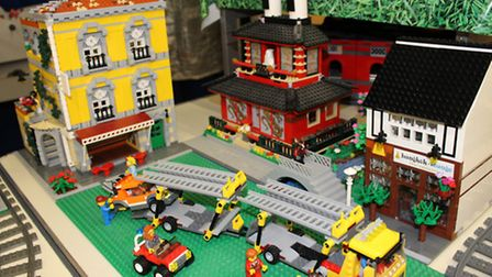 A model of Harpenden's Bangkok Lounge who sponsored the 'build your own' Lego competition