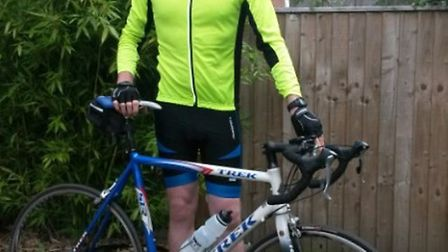 Graeme Bird, who will be riding 900km across Thailand and Cambodia next month