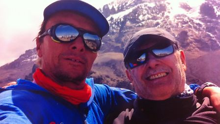 Stefano with guide Rolfe Oostra.