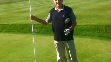 New vice-captain Ray Boddy on the 18th at Royston Golf Club