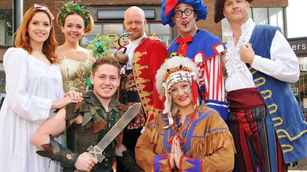 The stars of this years panto in St Albans, Peter Pan