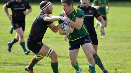 Reggie Reid scored a try for Huntingdon in their defeat at Bedford Athletic. Picture: DUNCAN LAMONT